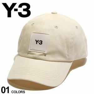 Y-3 メンズ キャップ ワイスリー ラバー ロゴ キャップ SQUARE LABEL BEIGE ブランド 帽子 コットン ヨウジヤマモト Yohji Yamamoto Y3H15772|zen