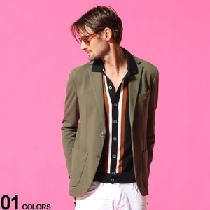 CIRCOLO 1901 メンズ ジャケット チルコロ1901 ストレッチ ウォッシャブル ジャージー シングル 2ツ釦 ブランド  テーラード コットン CICN2972 zen
