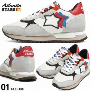 アトランティックスターズ メンズ Atlantic STARS キャンバス スエード スター ローカットスニーカー DRACO 白 ブランド シューズ 靴 星 レザー ASYBBYDR08|zen