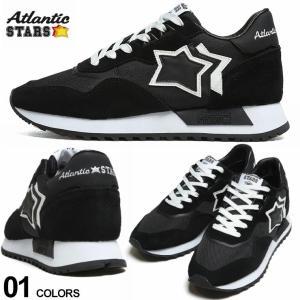 アトランティックスターズ メンズ Atlantic STARS メッシュ スエード スター ローカットスニーカー DRACO 黒 ブランド シューズ 靴 星 レザー ASNBNNDR01|zen