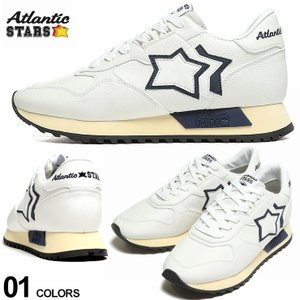 アトランティックスターズ メンズ Atlantic STARS レザー スター ローカットスニーカー DRACO 白 ブランド シューズ 靴 革 星 レザー ASWWWWDR07|zen