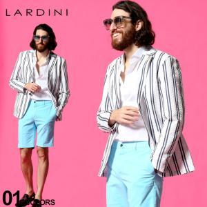 ラルディーニ LARDINI メンズ シアサッカー ストライプ シングル 2ツ釦 シャツ ジャケット ブランド テーラード コットン LDAMAC1341 zen