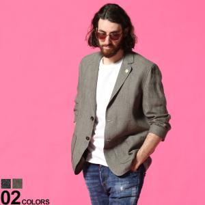 ラルディーニ LARDINI メンズ リネン シングル 2ツ釦 ジャケット ブランド 麻ジャケット テーラード リネン LDAMALC1388 zen