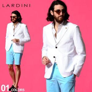 ラルディーニ LARDINI メンズ シアサッカー シングル 2ツ釦 シャツ ジャケット ブランド テーラード コットン ストレッチ LDAMAC1391 zen