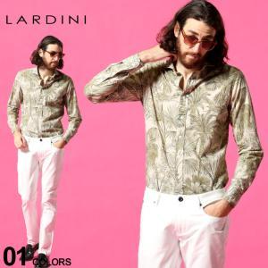 ラルディーニ メンズ LARDINI ボタニカル 総柄 ホリゾンタルカラー 長袖 シャツ ブランド トップス コットン LDCIROELC1370|zen