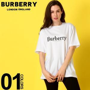 バーバリー BURBERRY レディース Tシャツ 半袖 ロゴ 刺繍 クルーネック ブランド トップス BBL8005940|zen