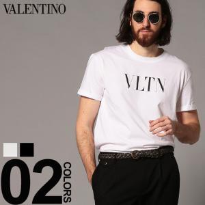 ヴァレンティノ VALENTINO Tシャツ 半袖 VLTN ロゴ プリント クルーネック ブランド メンズ トップス VLMG10V3LE|zen