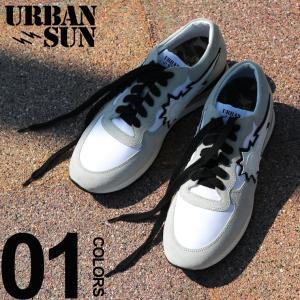 アーバンサン スニーカー urbansun スエード ナイロン ロゴ ローカット ブランド メンズ 靴 シューズ スニーカー レザー USVINCENT202|zen