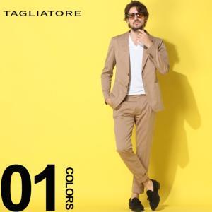 タリアトーレ TAGLIATORE スーツ コットン セットアップ シャドーストライプ シングル ワンタック ワンプリーツ 1プリーツ ブランド メンズ  TGDAKAR24UEZ084|zen