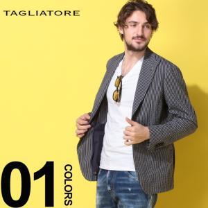 タリアトーレ TAGLIATORE ジャケット ストライプ シングル 2ツ釦 2B リップル ストレッチ ブランド メンズ テーラード サマージャケット TGDARWI23UEZ067|zen