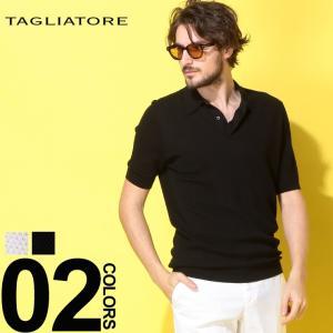タリアトーレ TAGLIATORE ニットポロ ポップコーンニット 半袖 ポロシャツ コットン ブランド メンズ トップス コットンニット TGNOAH534GSE19|zen
