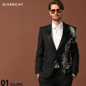 ジバンシィ GIVENCHY ジャケット ドラゴン 刺繍 ウール モヘヤ混 シングル ブランド メンズ アウター テーラード 総裏 GVBM3060100H|zen