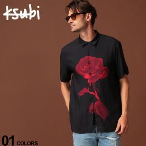 スビ Ksubi シャツ 半袖 レーヨン ローズ プリント NO DAISY ブランド メンズ トップス シャツ KB5000004049|zen
