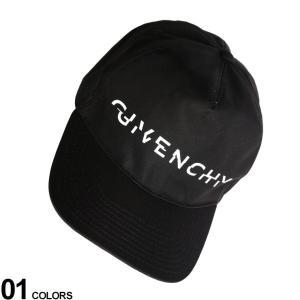 ジバンシィ メンズ キャップ GIVENCHY ナイロン ロゴ プリント アジャスター CURVED CAP ブランド 帽子 レディース GVBPZ003P05A zen