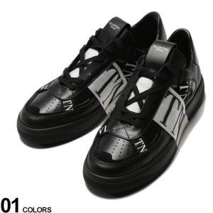 ヴァレンティノ メンズ スニーカー VALENTINO レザー ロゴ テープ ローカット VL7N ブランド メンズ 靴 革 ヴァレンティノ ガラヴァーニ VLTY2S0C58|zen