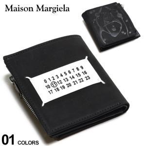 Maison Margiela メゾン マルジェラ レザー ペイント ロゴ 二つ折り 財布 ブランド メンズ 2つ折り財布 ウォレット ミニ財布 ME35UI438P0548|zen
