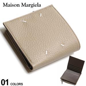 Maison Margiela メゾン マルジェラ レザー 2ツ折り 財布 BEIGE ブランド メンズ 2つ折り財布 ウォレット ミニ財布 ME35UI438P2686|zen