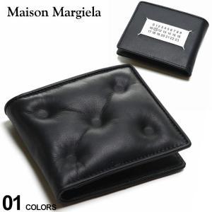 Maison Margiela メゾン マルジェラ レザー ロゴ キルティング 二つ折り 財布 ブランド メンズ 2つ折り財布 ウォレット ミニ財布 ME55UI280PR818|zen