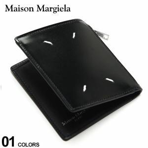 Maison Margiela メゾン マルジェラ レザー ステッチ 二つ折り 財布 ブランド メンズ 2つ折り財布 ウォレット ミニ財布 ME35UI448P2714|zen