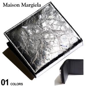 Maison Margiela メゾン マルジェラ メタリック レザー 2ツ折り 財布 ブランド メンズ ウォレット 折り財布 コンパクト ME35UI438P2627|zen