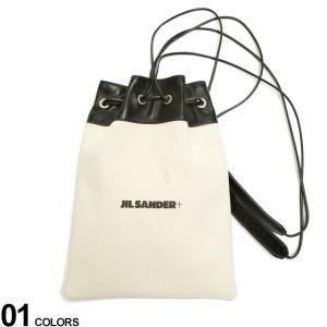 ジルサンダー JIL SANDER バッグ ロゴ レザー キャンバス ショルダーバッグ ブランド レディース 鞄 巾着 JL852018B75036N|zen