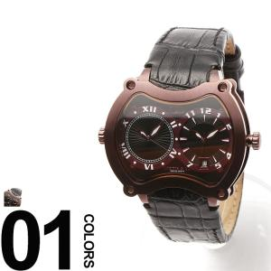 カーティス CURTIS&Co. 腕時計 型押しレザーベルト Dバックル ビッグタイム47mm OSBGD47B-R|zen