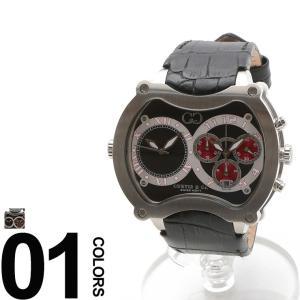 CURTIS&Co. カーティス 型押しレザーベルト Dバックル ビッグタイム57mm 腕時計 BGD57BK-S|zen