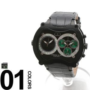 CURTIS&Co. カーティス 型押しレザーベルト Dバックル ビッグタイム57mm 腕時計 BGD57BKGN-B|zen