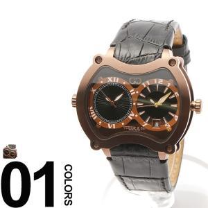 カーティス CURTIS&Co. 腕時計 型押しレザーベルト Dバックル ビッグタイム47mm OSBGD47BK-BR|zen