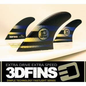 3DFINS:XDS FASTLIGHT 7.0(L) Fibreglass/Hexcore カービング向け 最速ディンプルフィン/FCS or FUTURE|zenithgaragesurfplus