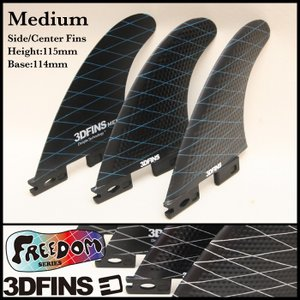 3DFINS:FREEDOM (M)size FCS2プラグ対応 オールラウンドモデル フレックスを強化した軽量最速ディンプルフィン/フリーダムシリーズ zenithgaragesurfplus