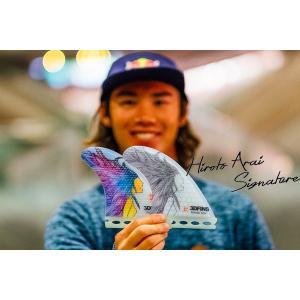 3DFINS:HIROTO ARAI SIGNATURE FIN 数量限定 新井洋人シグネーチャーモデル ディンプルフィン FCS|zenithgaragesurfplus