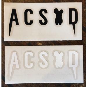 ACSOD:ALEX CREWS SURFBOARDS FANG LOGO カッティングステッカー Sサイズ/郵便発送対応|zenithgaragesurfplus