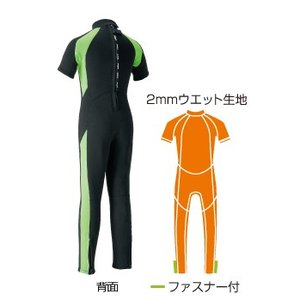 AQA:半袖長ズボンのシーガルタイプ/キッズ・子供用ウエットスーツ100〜160サイズ 3色展開|zenithgaragesurfplus|05