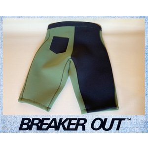 BREAKER OUT メンズ 2mm ウエットパンツ:オリーブxブラック Lサイズ ポケット付き Re:Blue素材/ブレーカーアウト|zenithgaragesurfplus
