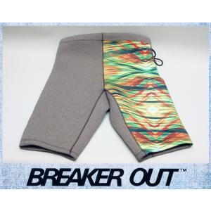 BREAKER OUT メンズ 2mm ウエットパンツ:ブラウンヘザーxプリントマテリアル MLサイズ NESL仕様/ブレーカーアウト別注|zenithgaragesurfplus