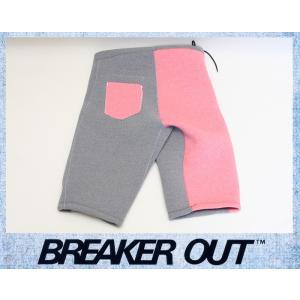 BREAKER OUT メンズ 2mm ウエットパンツ:グレーヘザーxレッドヘザー Lサイズ NESL仕様/ブレーカーアウト別注|zenithgaragesurfplus