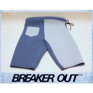 BREAKER OUT メンズ 2mm ウエットパンツ:スレートxアールグレー MLサイズ ポケット付き/ブレーカーアウト別注|zenithgaragesurfplus