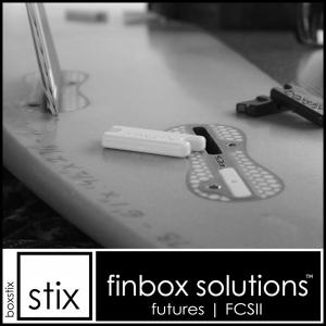 BOXSTIX FCS-2用:5フィンのボード用 使わないフィンボックスの穴を埋めるスペーサー/郵便発送対応|zenithgaragesurfplus