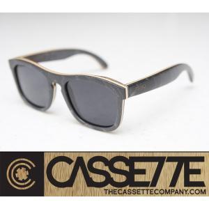 CASSETTE スケボーデッキ使用:EASY LIVIN' SKATEBOARD 301 [Black/Gray Lens] スケートデッキフレーム 偏光レンズ サングラス|zenithgaragesurfplus