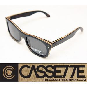 CASSETTE 偏光レンズ スケートデッキ モデル:JACKSON SKATEBOARD 301 [Black/Gray Lens] ウッドフレーム 偏光レンズ仕様|zenithgaragesurfplus
