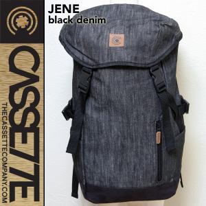 CASSETTE:デニム素材 バックパック [JENE - BLACK] 23L/サングラス&PCポケット付き|zenithgaragesurfplus