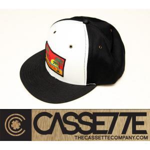 CASSETTE:CAP [BEACHIN' SUNSET] ブラック&ホワイト/カセット キャップ|zenithgaragesurfplus