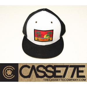 CASSETTE:CAP [BEACHIN' SUNSET] ブラック&ホワイト/カセット キャップ|zenithgaragesurfplus|02