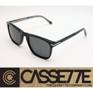 CASSETTE スタイリッシュな細身フレーム:EL CAPITAN 401 [Black : Gray Lens] 偏光レンズ アセテートフレーム 抜群のフィット感 サングラス|zenithgaragesurfplus