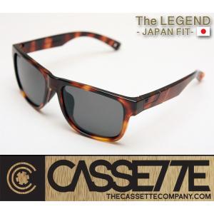 CASSETTE -JAPAN FIT-:LEGEND 001 [Tortoise : Gray Lens] 偏光レンズ TR90フレーム 日本仕様で抜群のフィット感 サングラス|zenithgaragesurfplus