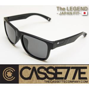 CASSETTE -JAPAN FIT-:LEGEND 002 [Matt Black : Gray Lens] 偏光レンズ TR90フレーム 日本仕様で抜群のフィット感 サングラス|zenithgaragesurfplus
