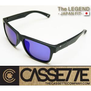 CASSETTE -JAPAN FIT-:LEGEND 003 [Matt Black : BlueMirror Lens] 偏光レンズ TR90フレーム 日本仕様で抜群のフィット感 サングラス|zenithgaragesurfplus