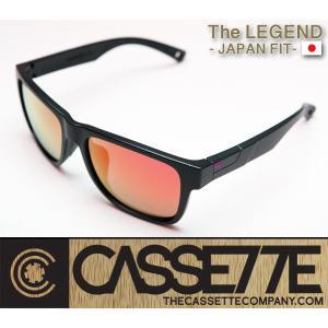 CASSETTE -JAPAN FIT-:LEGEND 004 [Matt Black : FireMirror Lens] 偏光レンズ TR90フレーム 日本仕様で抜群のフィット感 サングラス|zenithgaragesurfplus
