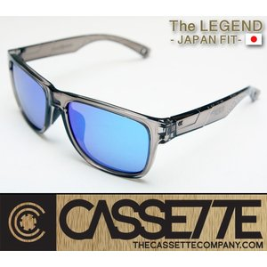CASSETTE -JAPAN FIT-:LEGEND 006 [Clear : BlueMirror Lens] 偏光レンズ TR90フレーム 日本仕様で抜群のフィット感 サングラス|zenithgaragesurfplus